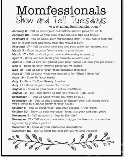 Show and Tell Tuesday Link-Up: I'll Show You Mine, You Tell Me Yours