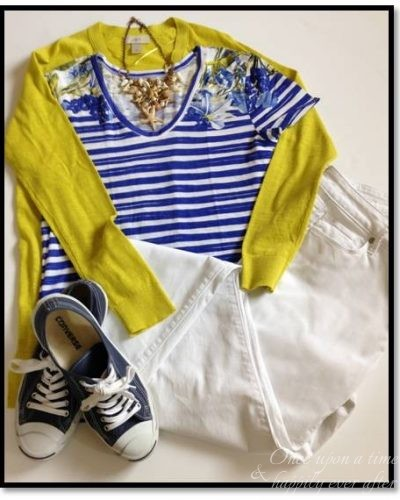 My Fashion Haus: A Navy and Nautical Stripe Look & TBB Style Perspectives Link-Up