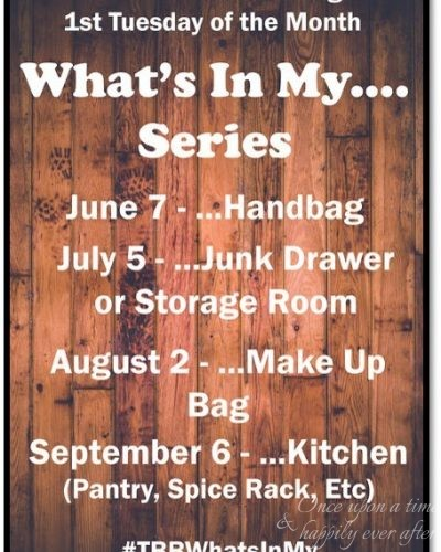 What's in My…Bag, Which I Call a Purse:  A TBB Series and Link-Up