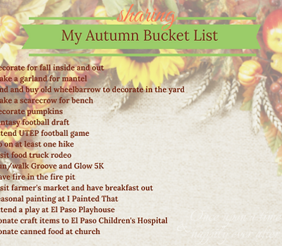 My Autumn Bucket List