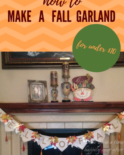 DIM:  How to Make an Inexpensive Fall Garland