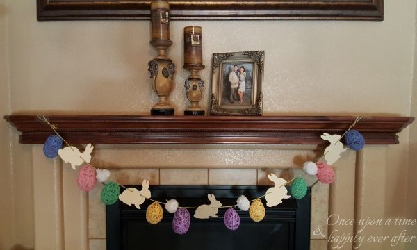 DIM, Did it Myself: Not-So-Easy But Kinda Cheap Easter Garland