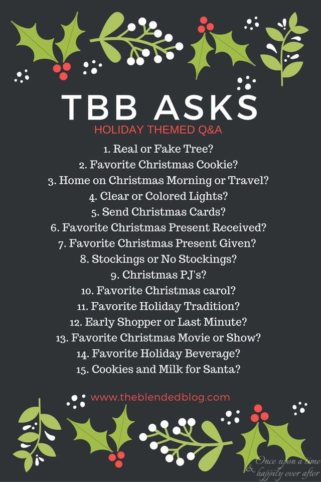 15 Holiday Questions: TBB Asks