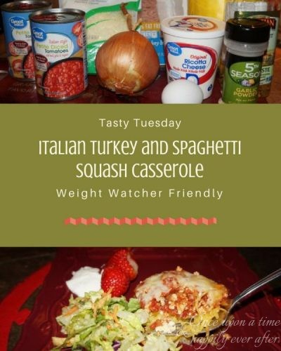 Tasty Tuesday:  Italian Turkey and Spaghetti Squash Casserole