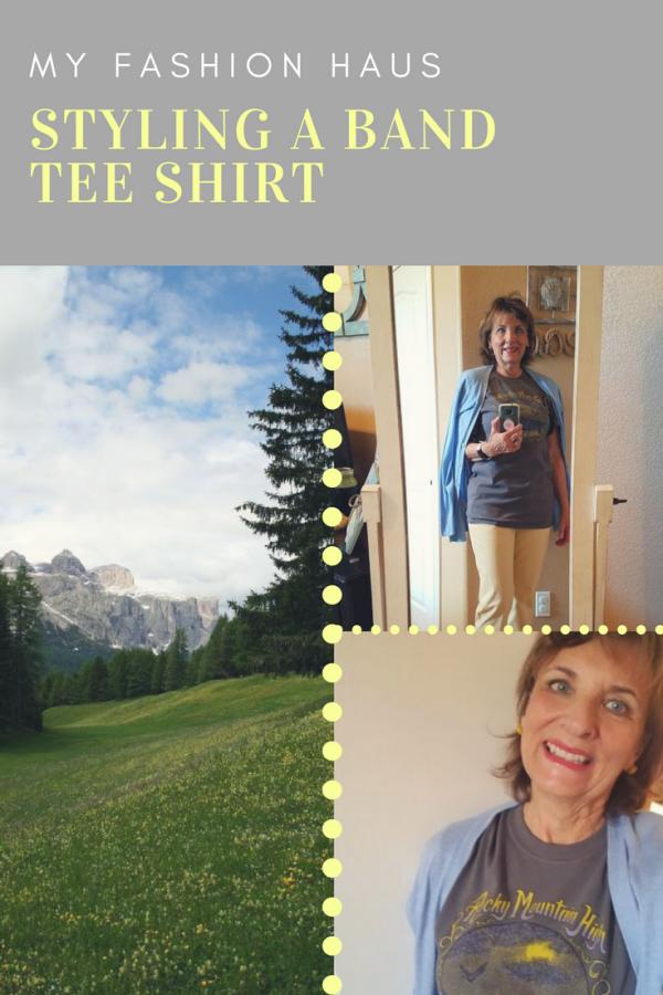 My Fashion Haus: Styling a Band Tee Shirt