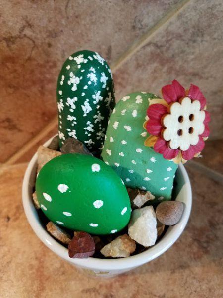 DIM, Did It Myself: Painted Rock Cactus Garden