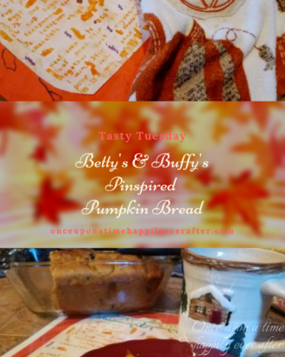 Tasty Tuesday: Betty's & Buffy's Pinspired Pumpkin Bread