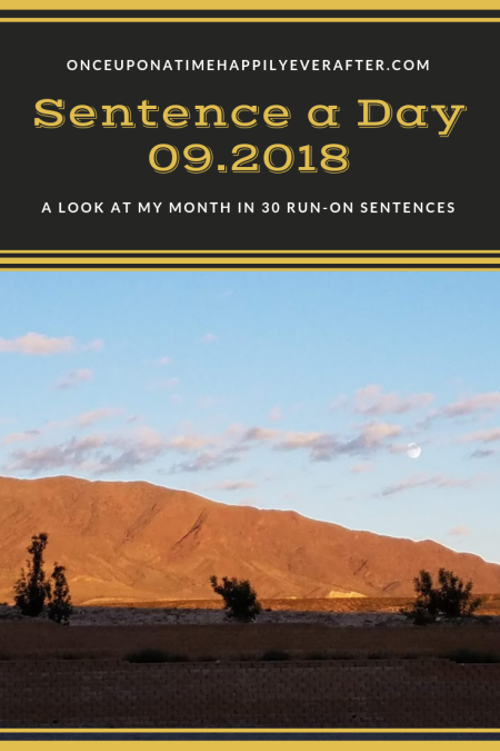 Sentence a Day, 09.2018