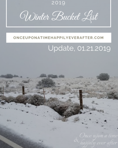 My 2019 Winter Bucket List, Update 01.2019