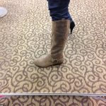 My flat, brown boots.  Kinda tomboy!
