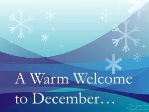 Bienvenidos a diciembre