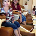 Pedicures for the princesses.