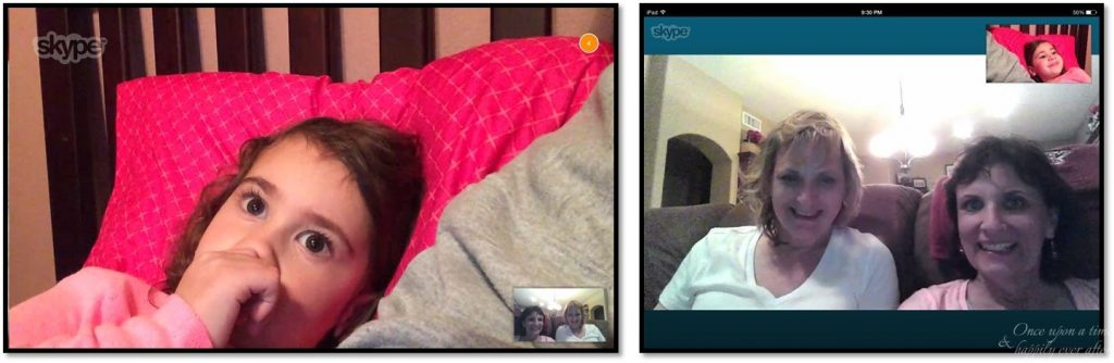 Skype from both perspectives