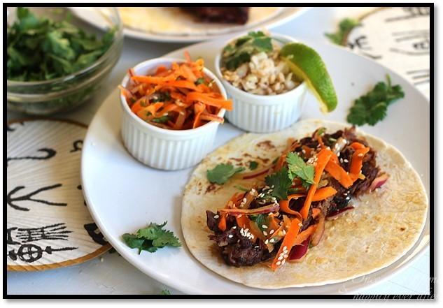 Crockpot Korean Beef Rib Tacos