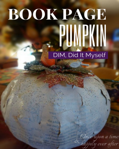 DIM, Did it Myself: Book Page Pumpkins