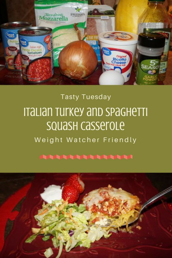 Tasty Tuesday: Italian Turkey and Spaghetti Squash Pie