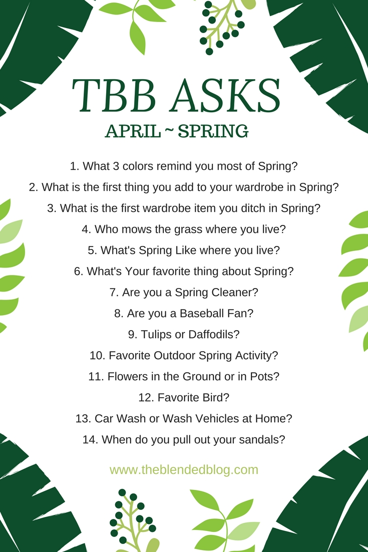 14 Questions About All Things Spring: TBB Asks