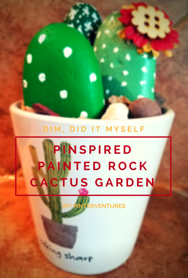 DIM, Did It Myself: Painted Rock Cactus Garden