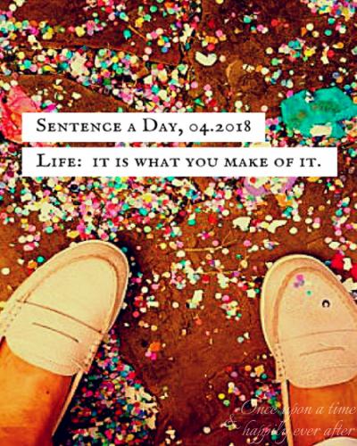 Sentence a Day, 04.2018