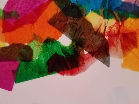 DIM, Did It Myself: Pinspired Bleeding Tissue Paper Collage