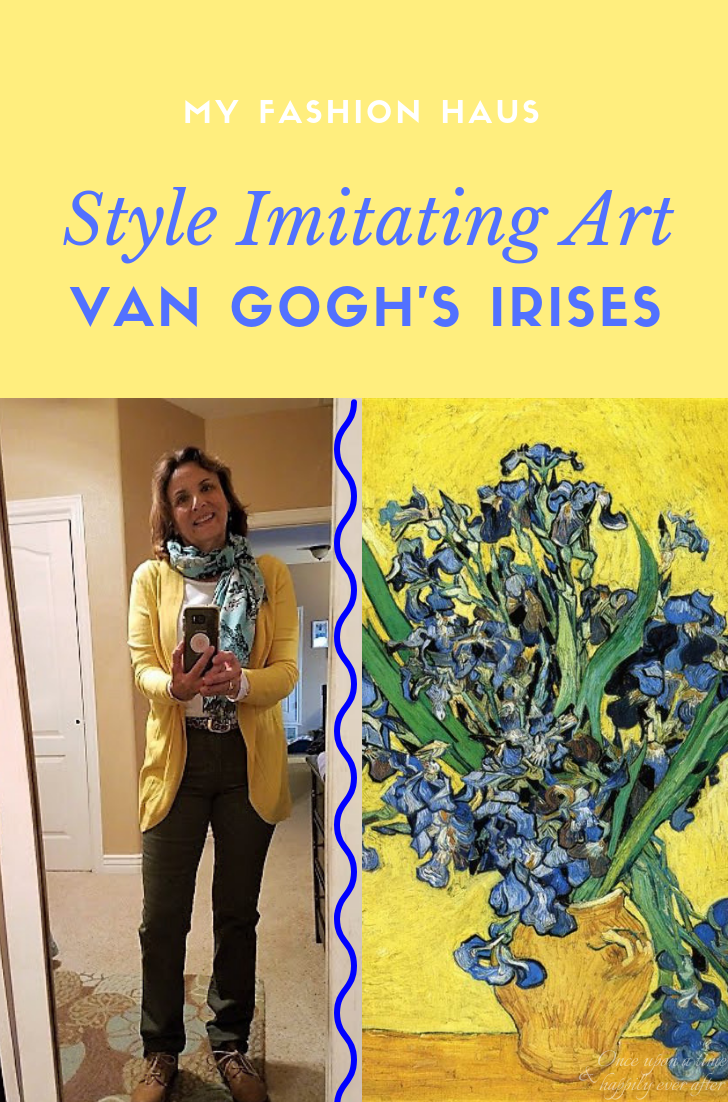 My Fashion Haus: Style Imitating Art, Van Gogh's Irises
