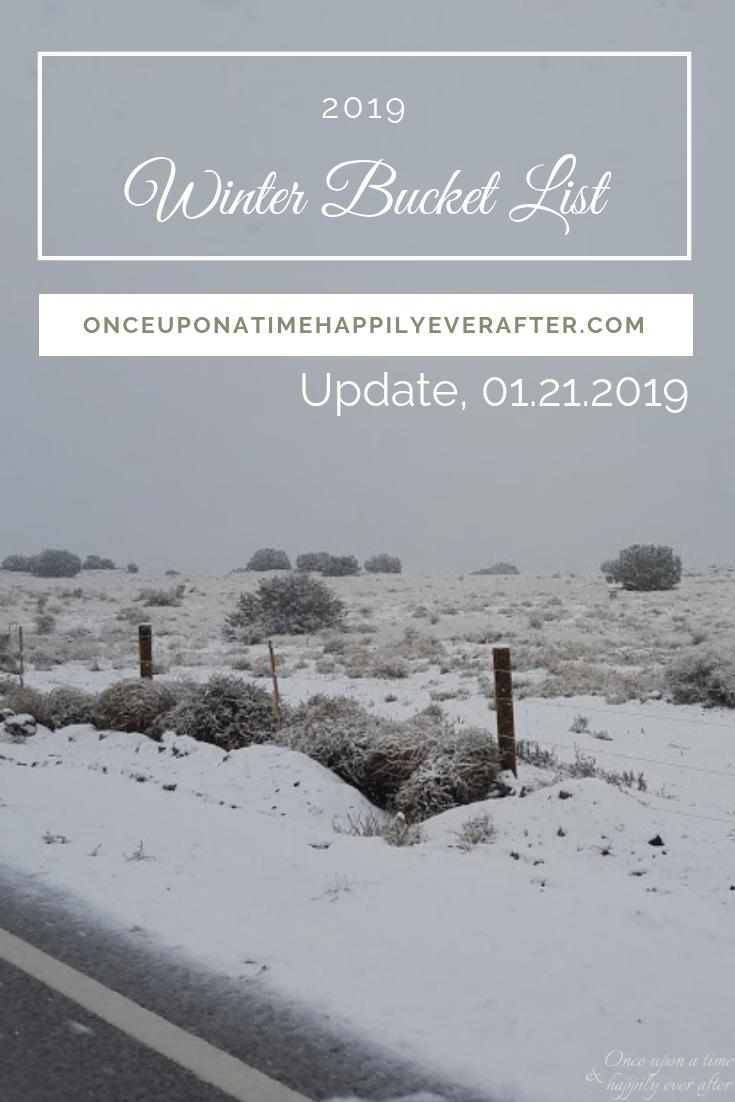My 2019 Winter Bucket List, Update 01.2019