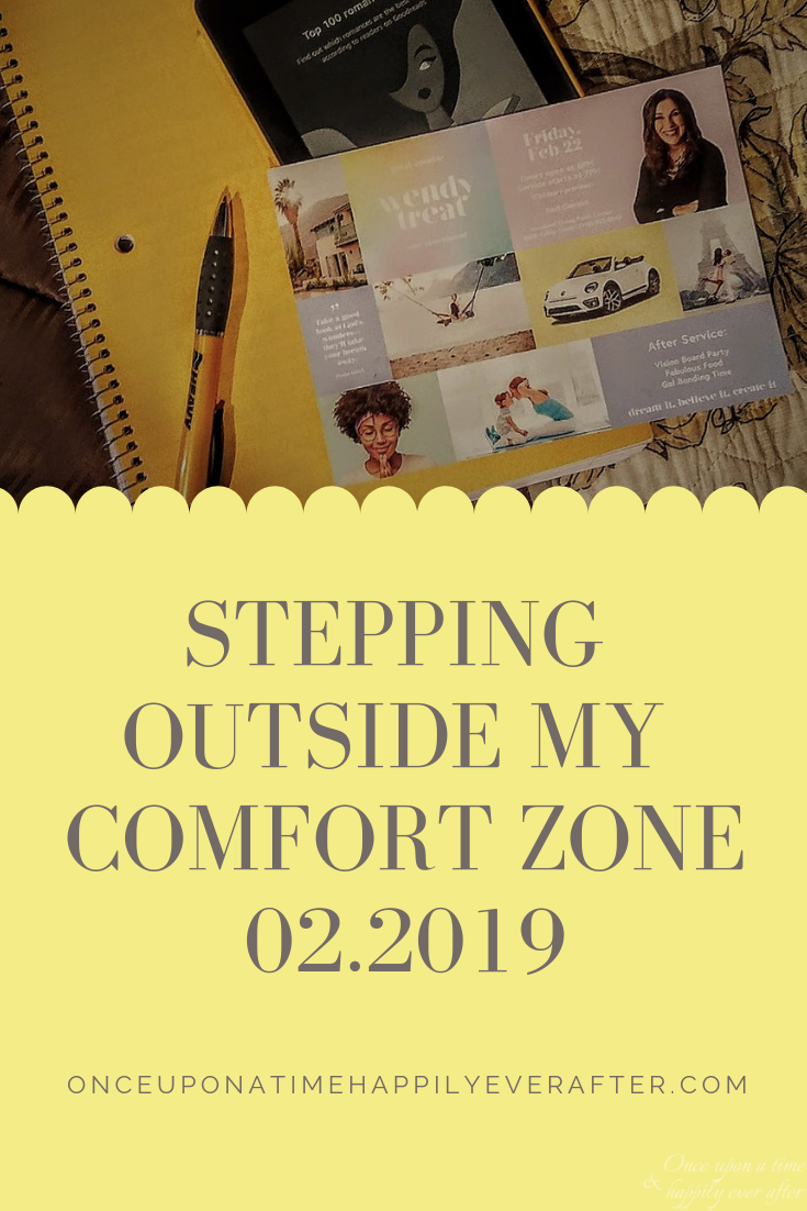 Stepping Outside My Comfort Zone, 02.2019.