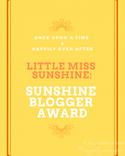 Little Miss Sunshine: Sunshine Blogger Award