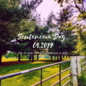 Sentence a Day, 04.2019