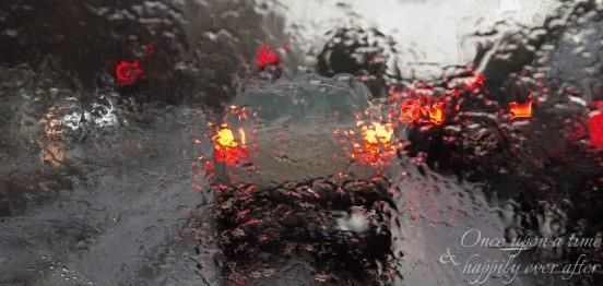 rain on road
