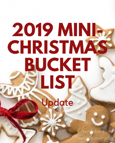 2019 mini Christmas Bucket List
