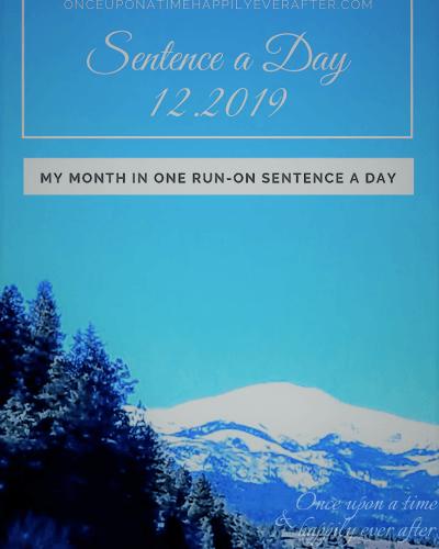 Sentence a Day, 12.2019