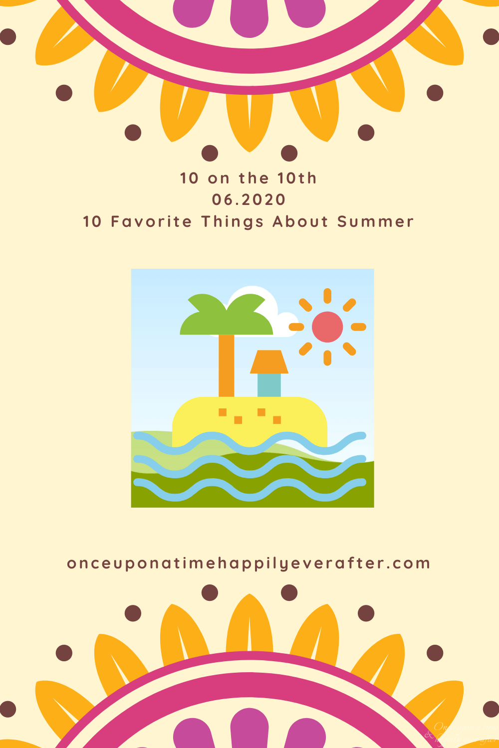 Prompt for June's 10 on the 10th: Summer