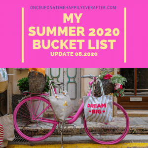 My Summer 2020 Bucket List: Update 08.2020