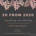 20 From 2020: A Most Unusual Year